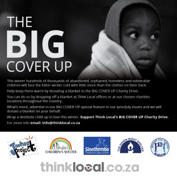 Wrap a child up in warmth. Support Think Local's BIG COVER UP Winter Charity Drive